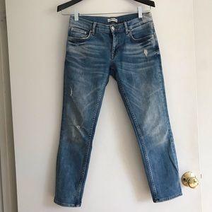 Zara boyfriend low rise jeans